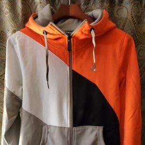 VOLCOM bonded fleece hoodie black neon